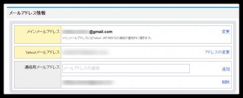 オークションアラートの通知用メールアドレス